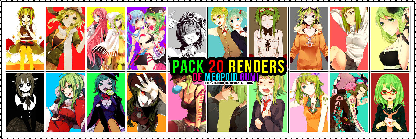 Pack 20 Rendes de Gumi :D by Airumi-Dai