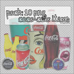 10 Png Coca-Cola items.