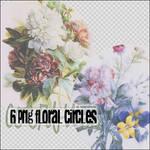 6 Png Floral Circles