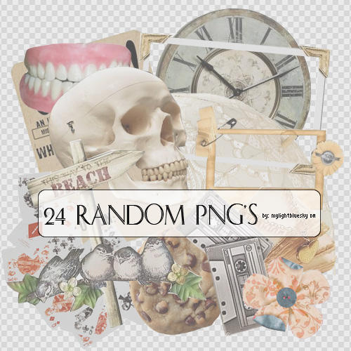 24 Random Png's by mylightbluesky