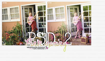 PSD 2: Pink spring. by mylightbluesky