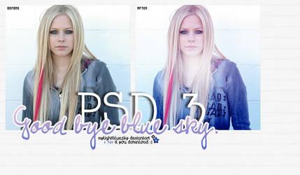 PSD 3: Good bye blue sky. by mylightbluesky