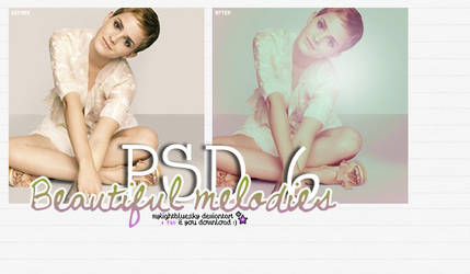 PSD 6: Beautiful melodies. by mylightbluesky
