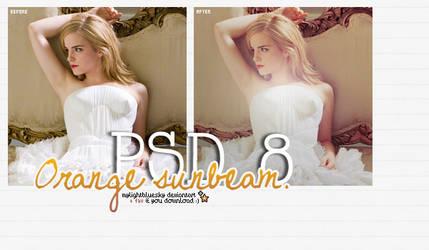 PSD 8: Orange sunbeam. by mylightbluesky