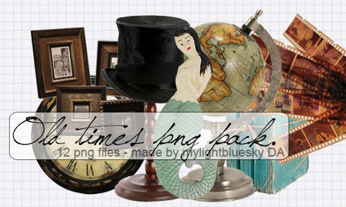 Old times png's pack. by mylightbluesky