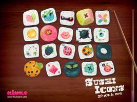 Sushi Icons by Kluke