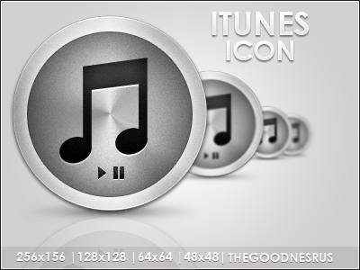 Metal iTunes Icon by thegoodnesrus