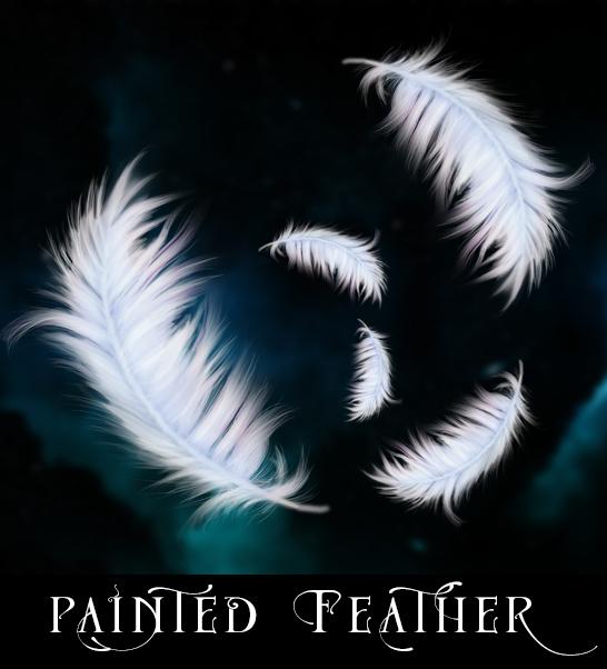 Handpainted Feathers by Eerilyfair-Stock
