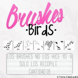 +Brushes Birds by tyronexjoseph
