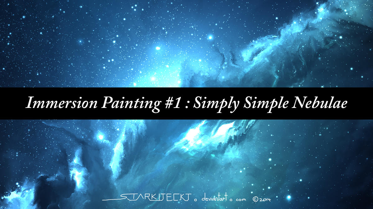 Immersion Painting 1 Simply Simple Nebulae By