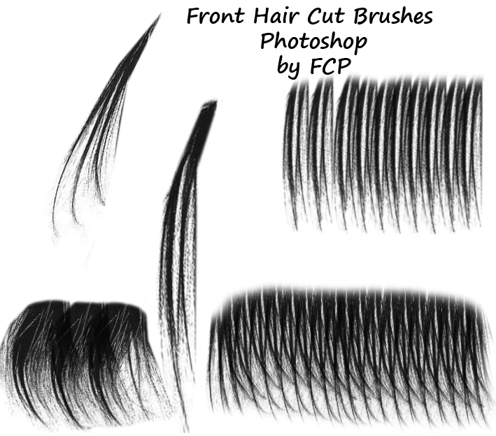 Front Haircut Brushes Photoshop