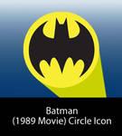 Batman 1989 Movie Circle Icon