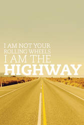 I Am The Highway iPhone Wallpaper