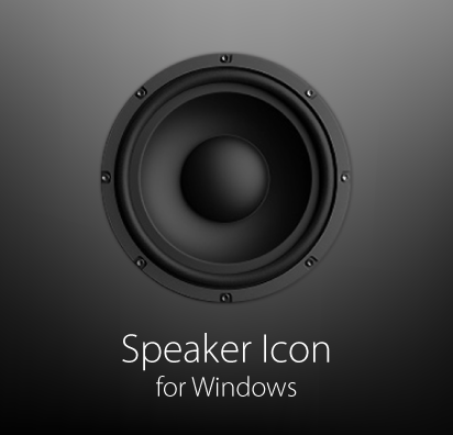 Speaker Icon for Windows by mininudoidu