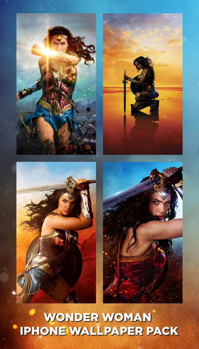Wonder Woman iPhone Wallpaper Pack by mininudoidu