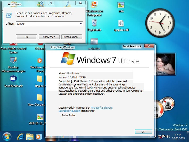Image gallery about windows 7 for Window in german