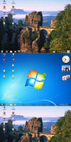 Perfect clear taskbar windows7 windows8  xp