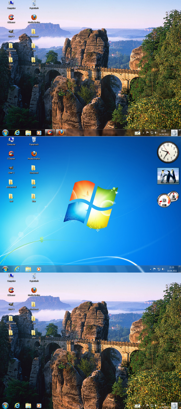 Perfect clear taskbar windows7 windows8  xp by PeterRollar