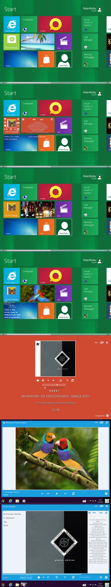 Windows8 tile for CD Art Display by PeterRollar