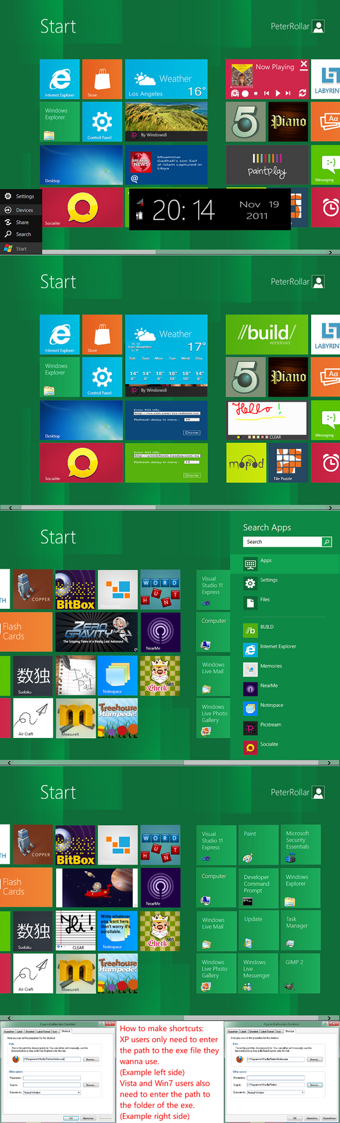 Another Windows8 startscreen by PeterRollar