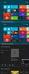 Windows 8 music player beta by PeterRollar