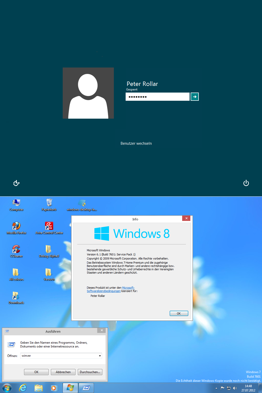 Windows8 RTM logon for Windows7