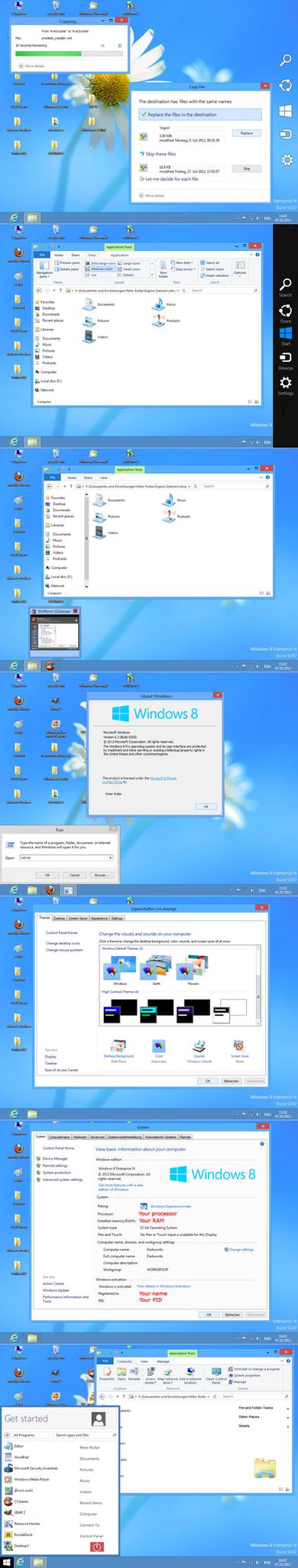 Windows 8 RTM Build 9200 by PeterRollar