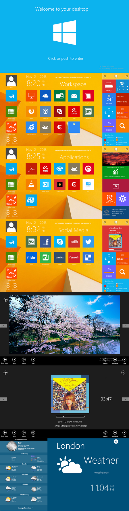 Windows 8.1 RTM desktop replacement by PeterRollar