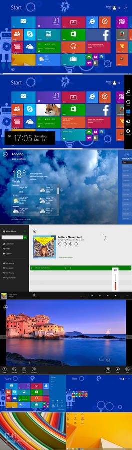 Windows8.1 Update1 startscreen for  Xp  Vista Win7