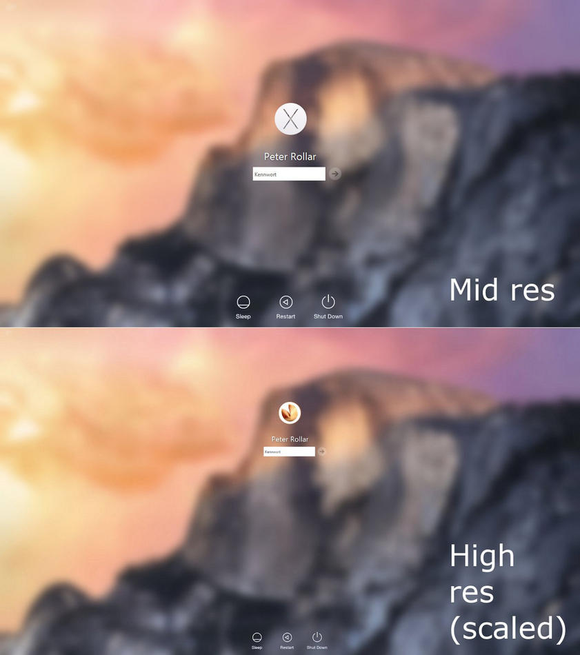 Yosemite logon for Windows7 by PeterRollar