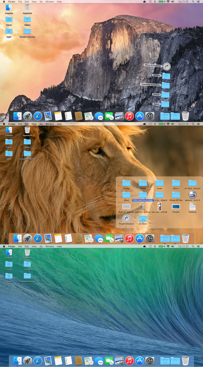 OSX Yosemite for Rocketdock by PeterRollar
