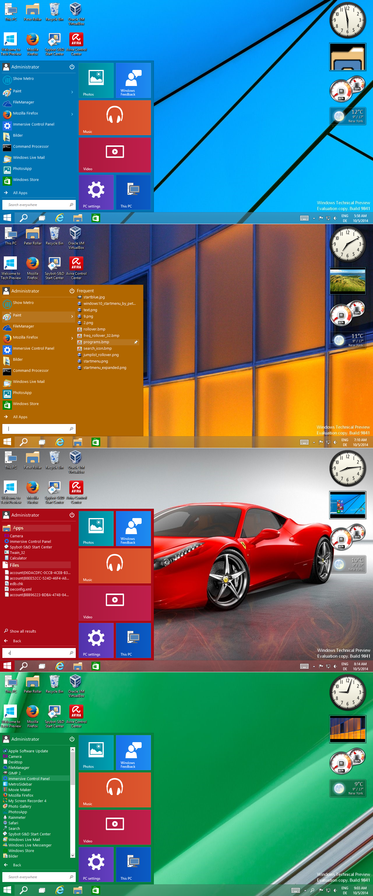 Windows10 Startmenu