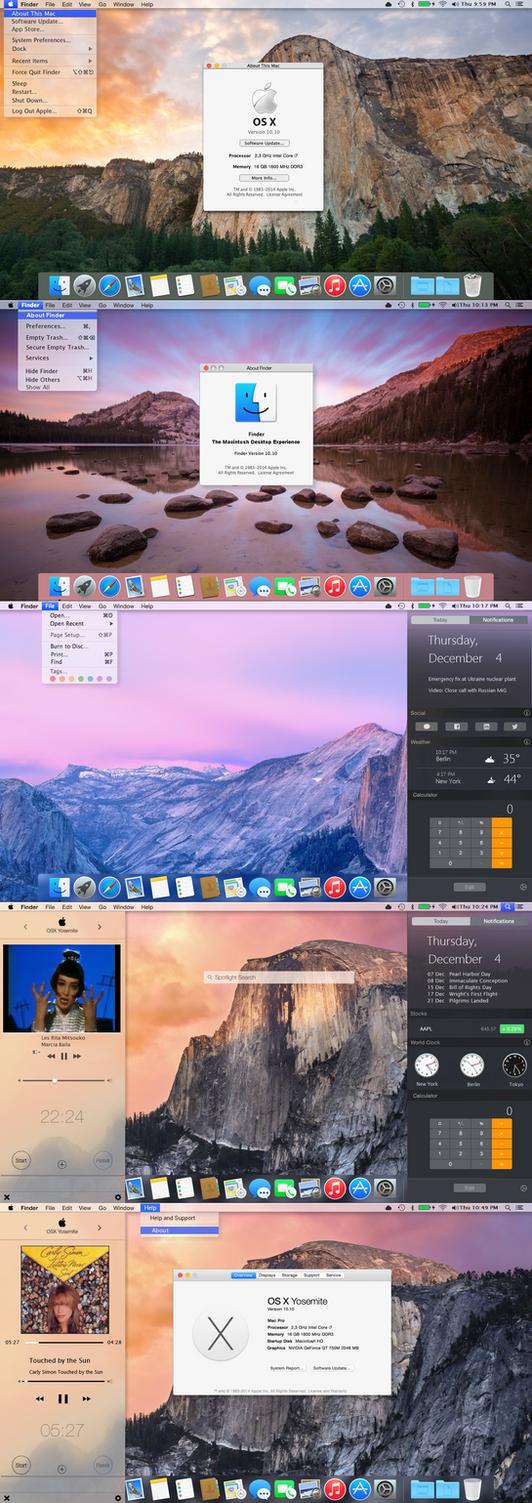 OSX Yosemite transformation for all Windows OS by PeterRollar