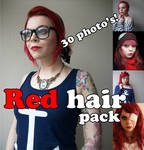 Red hair Pack by Dingelientje-stock