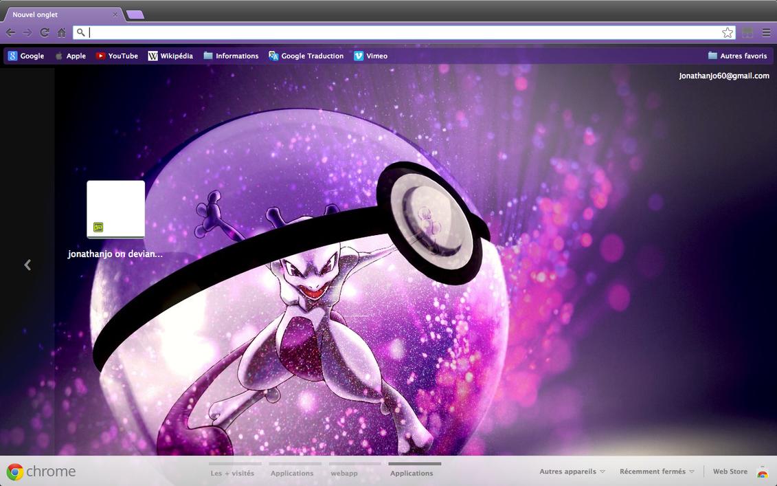 Gmail theme firefox - Chrome Firefox Theme Mewtwo Into A Pokeball By Jonathanjo