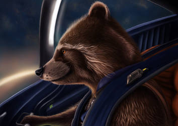 Rocket Raccoon - Digital drawing (5) by BiigM