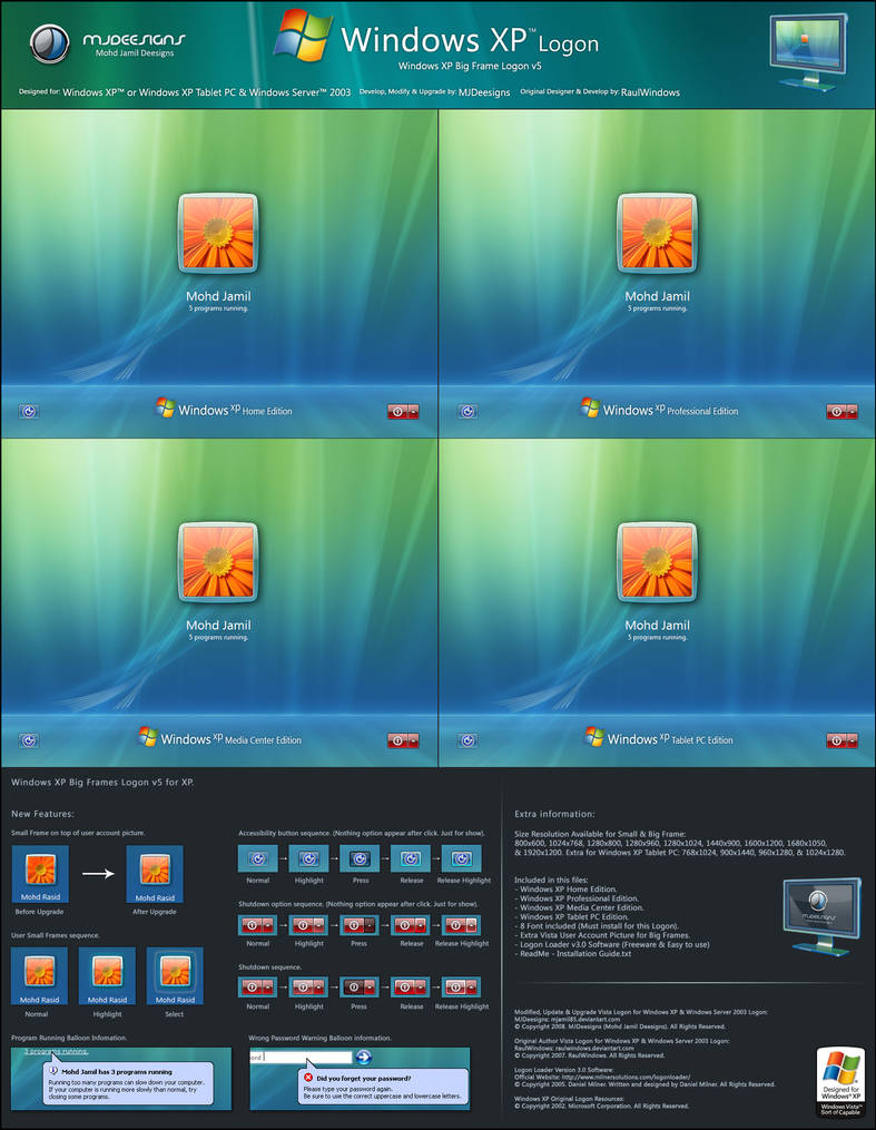 Windows XP Big Frames v5 by mjamil85 on DeviantArt