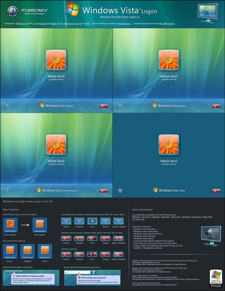 windows vista big frames v5 by mjamil85 on deviantart rh deviantart com Windows Vista Home Premium Wallpaper Windows Vista Business