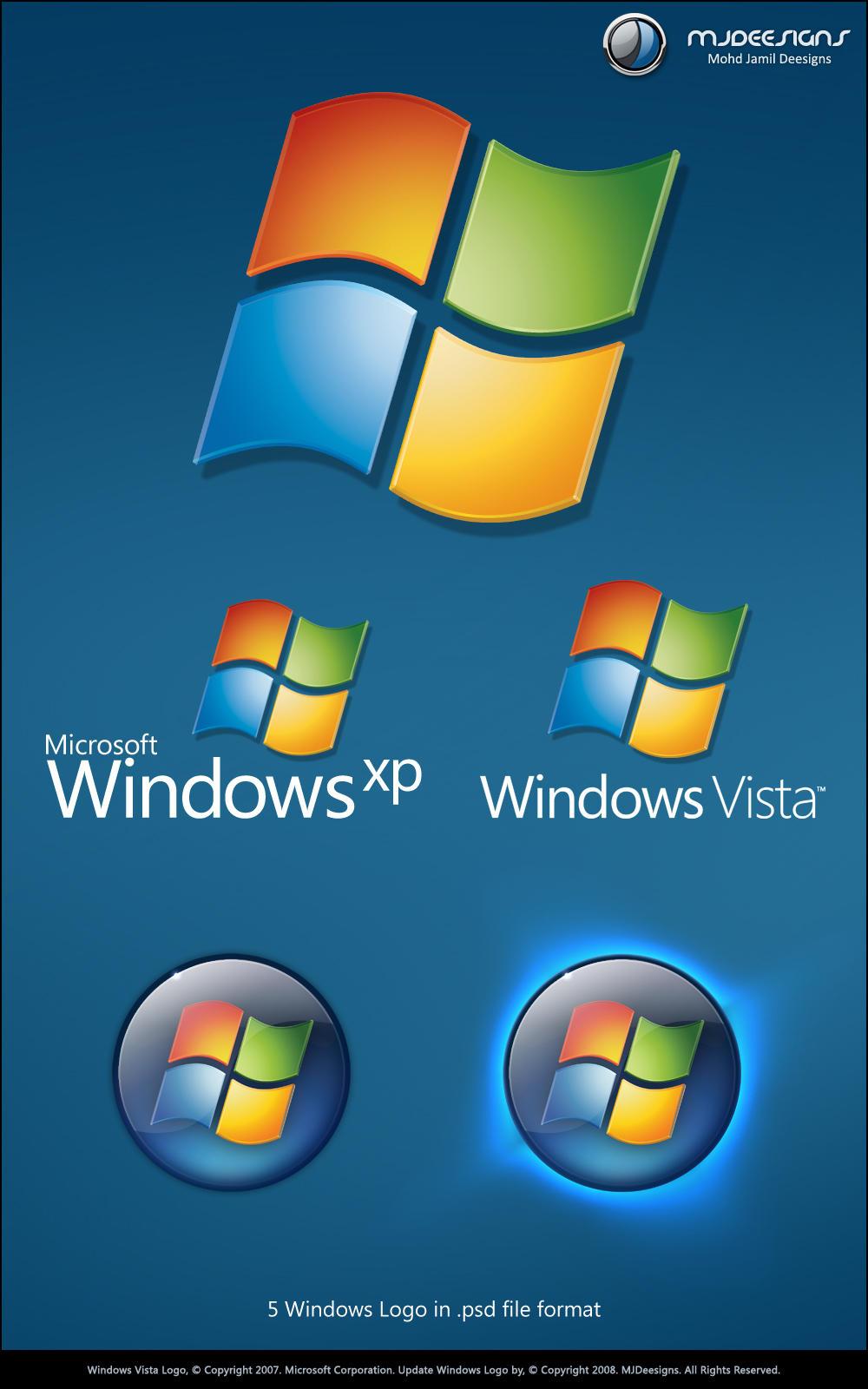 logos de windows xp: