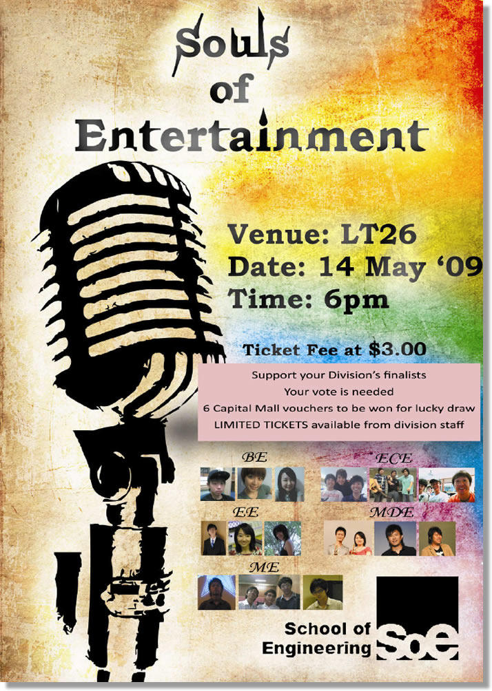Singing competition flyer