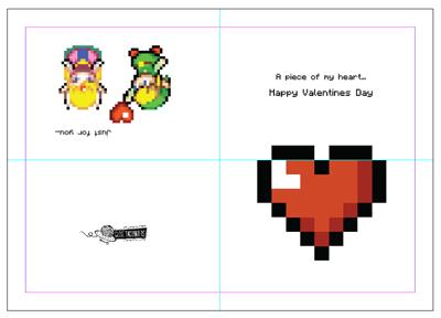 Zelda Valentine Card Heart Zelda Valentine
