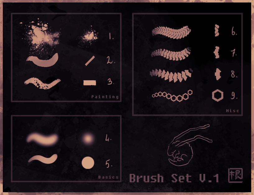 Dave's brushes v1 (PS) by DavesPineapple