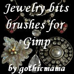 jewelry bits brushes for gimp by Gothicmamas-stock