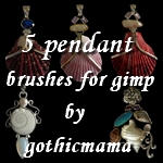 seaside pendants gimp brushes by Gothicmamas-stock