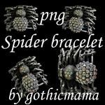 spider bracelet png file stock by Gothicmamas-stock
