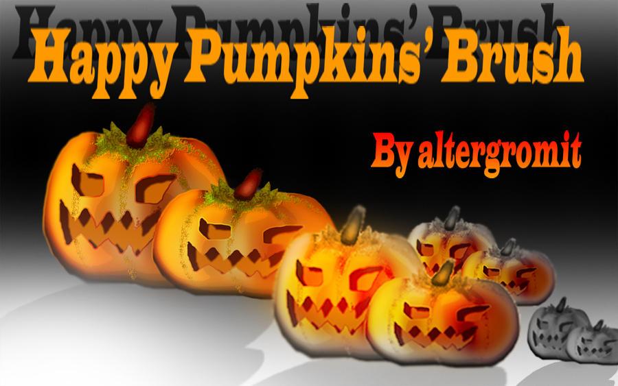 Happy Pumpkins Brush by altergromit