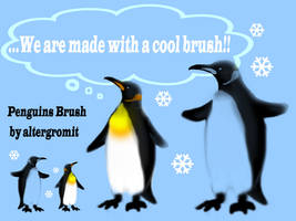 Penguins Brush by altergromit
