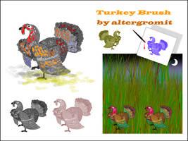 Turkey Brush by altergromit