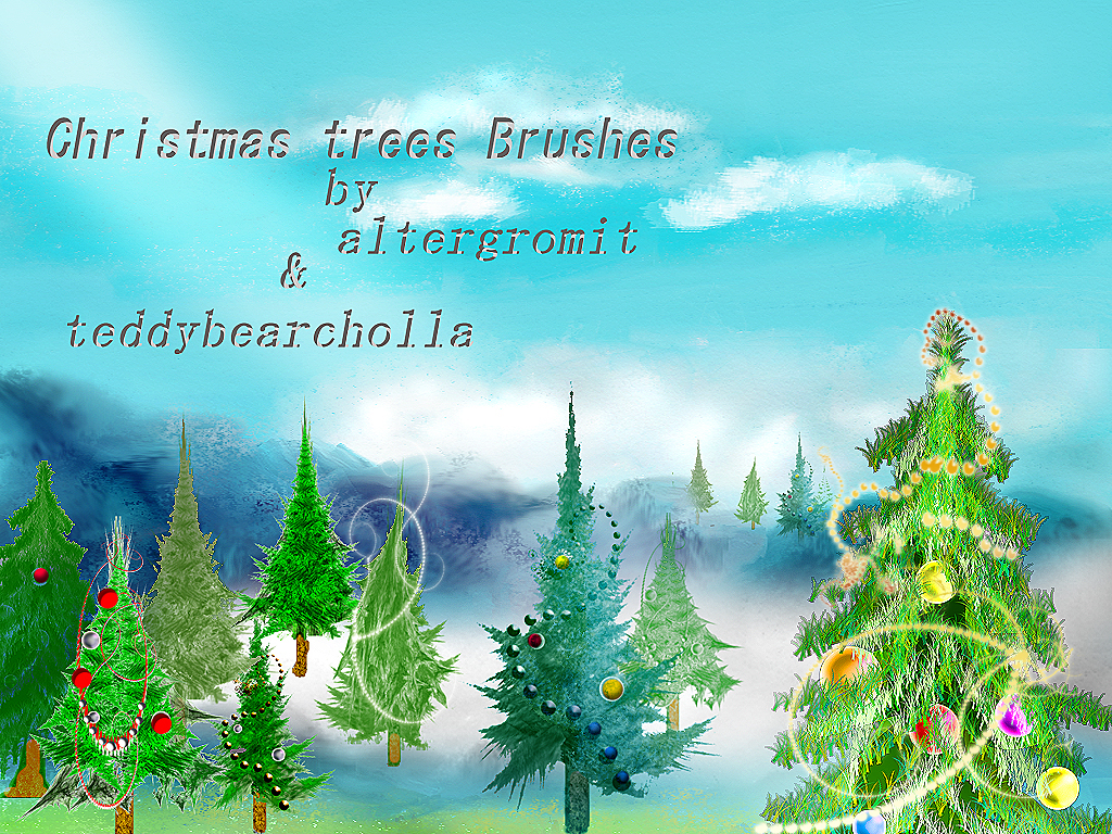 Christmas Trees Brushes