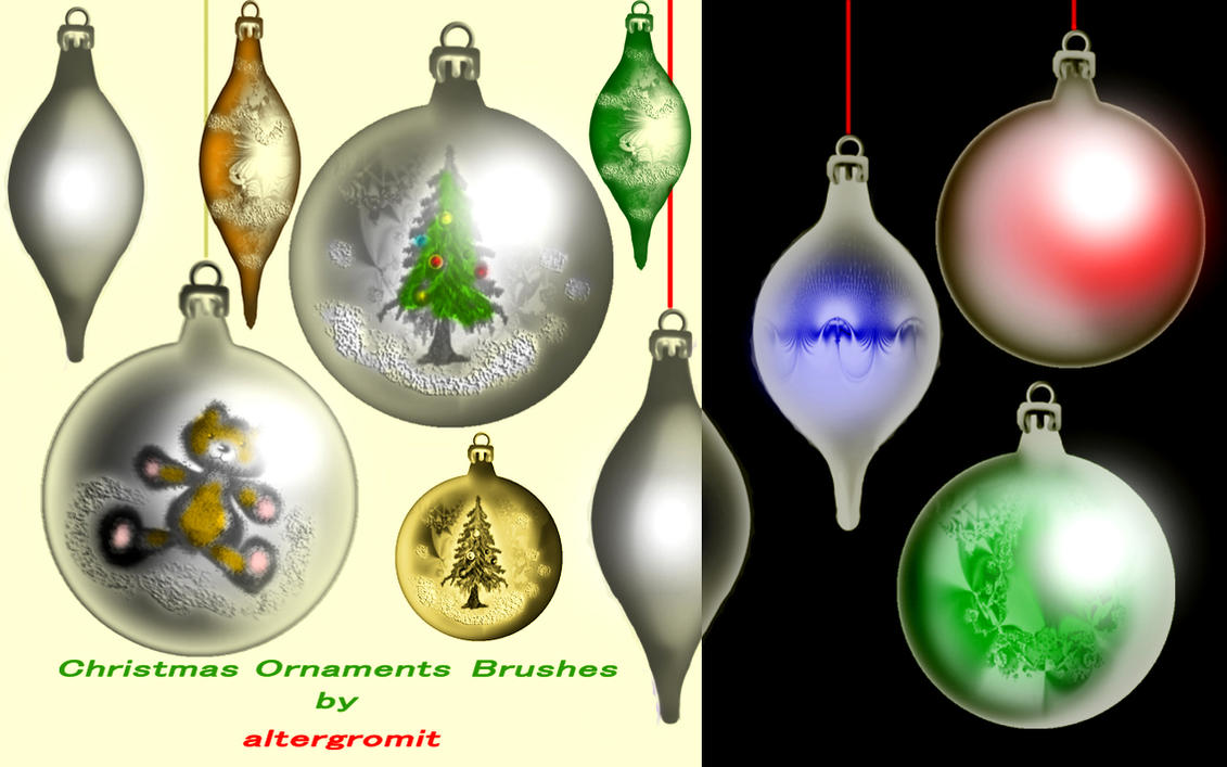Christmas Ornaments Brushes by altergromit